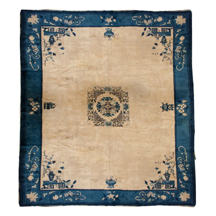 """19th Century Chinese Peking Carpet, 9'5"""" x 11'5""""   From a unique collection of antique and modern chinese and east asian rugs at http://www.1stdibs.com/furniture/rugs-carpets/chinese-rugs/"""