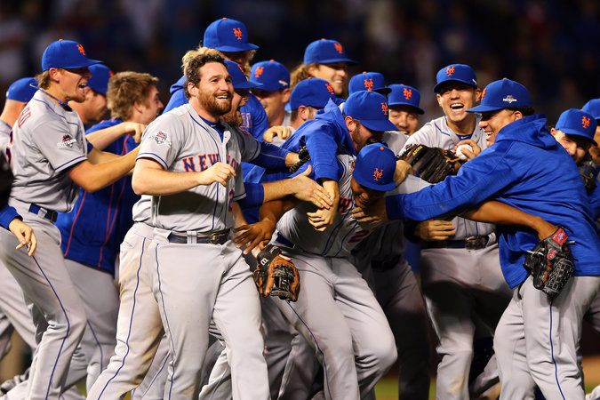 Mets, Team of Big Shoulders, Slug Their Way to a Sweep and a Pennant in Chicago - The New York Times