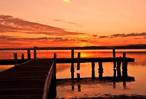 Sunset over Lake Macquarie - Newcastle / Lake Macquarie, NSW