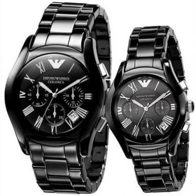 Couple's Ceramica Watch From Emporio Armani AR1400/AR1401