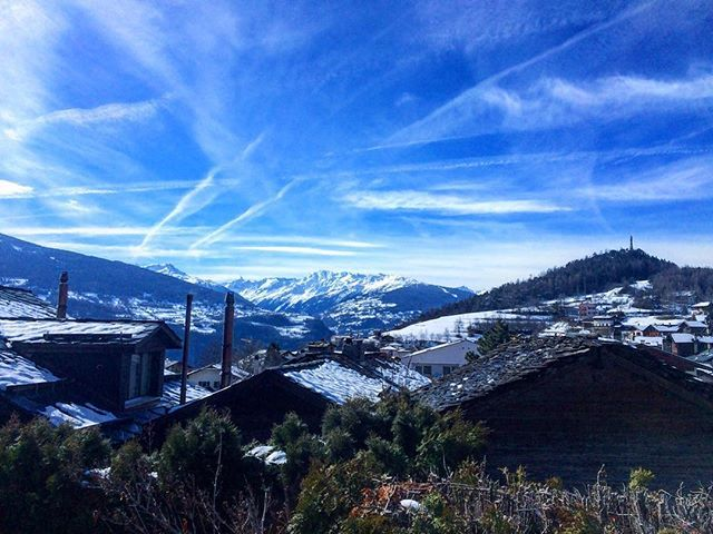 Blue blue Friday in lens  #blue #bluesky #lens #switzerland #mountains #snow #winter #skyporn #clouds #cloudporn #fresh #pure #landscape #landscapelovers #village #traditional #picoftheday #amazing #view #panorama #travelgram #travel #explore #exploreeverything #traveltheworld #openair #roofscape by happydarko. bluesky #travelgram #explore #travel #fresh #mountains #panorama #blue #openair #amazing #traveltheworld #switzerland #picoftheday #village #exploreeverything #landscapelovers…