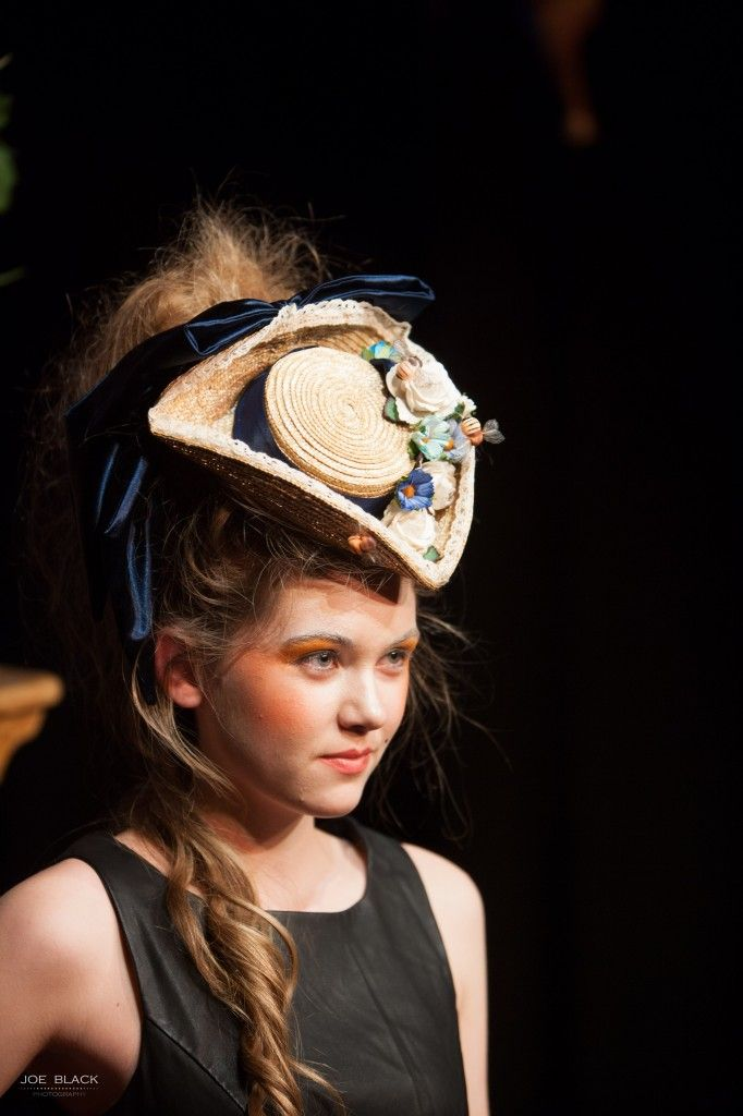 Betsy Hatter, Marie Antoinette inspired tricorn at the Norwich Fashion Week Vintage Show. Photograph by Joe Black