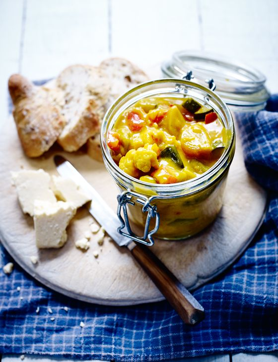 Piccalilli uses a variety of garden vegetables so is a perfect summer pickle to make