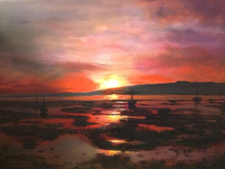 Acrylic on canvas, Langstone Harbour Commission by Amy Routledge Art