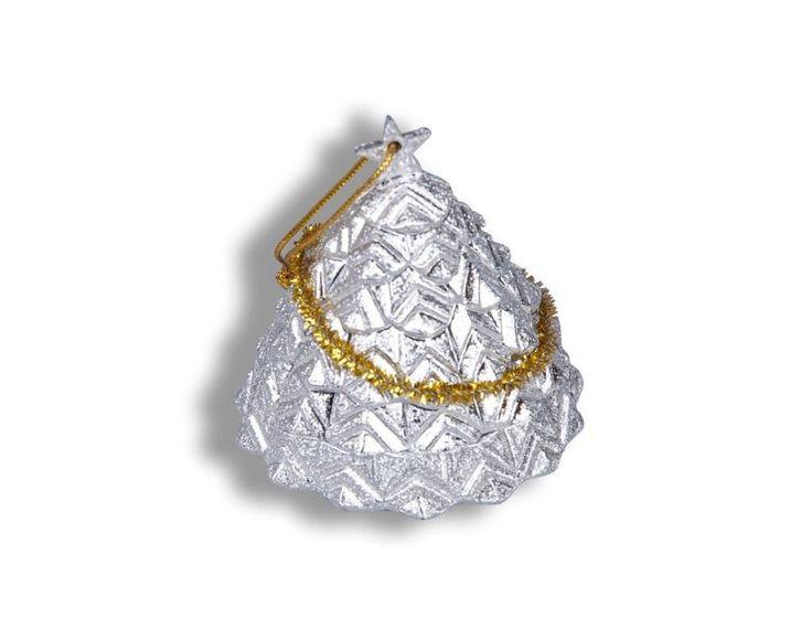 Dárková krabička - Stříbrný stromeček