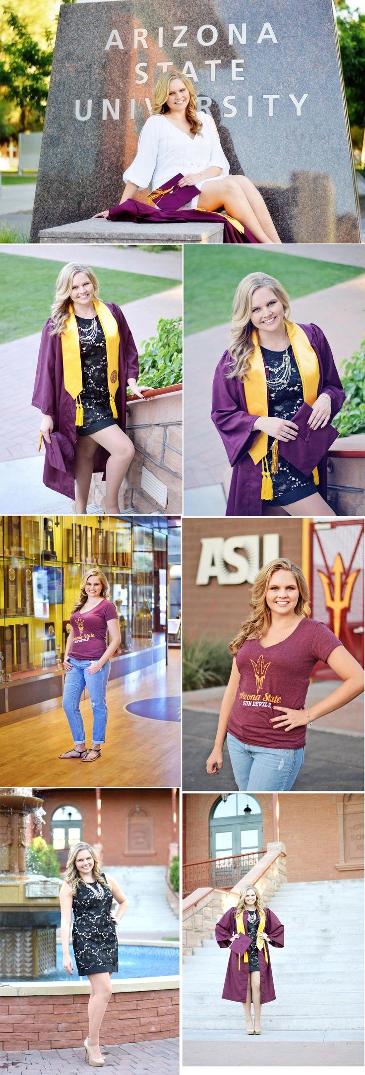 Senior portraits. Arizona State University. Photo poses.