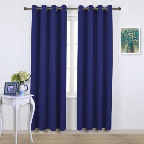 Royal Blue Thermal Insulated Blackout Curtains 4_ www.pluscurtains.com pluscurtains@gamil.com whatsapp:+ 861506814867