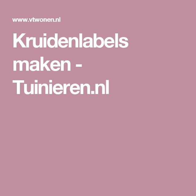 Kruidenlabels maken - Tuinieren.nl