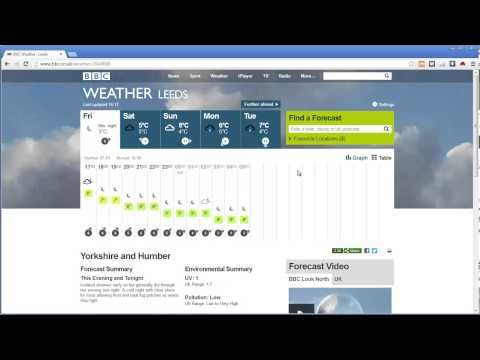 The BBC Weather page and the future of dashboards | Antivia Blog