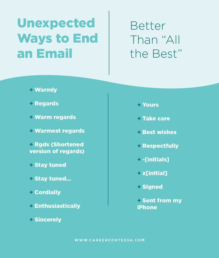 How To End An Email Email Writing Career Contessa Work Email