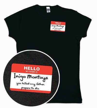 ThinkGeek :: Hello My Name Is Inigo Montoya Babydoll