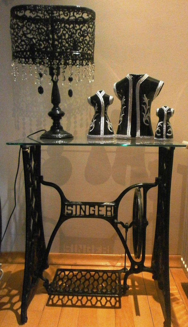 Singer Sewing Table Repurpose DIY Idea37