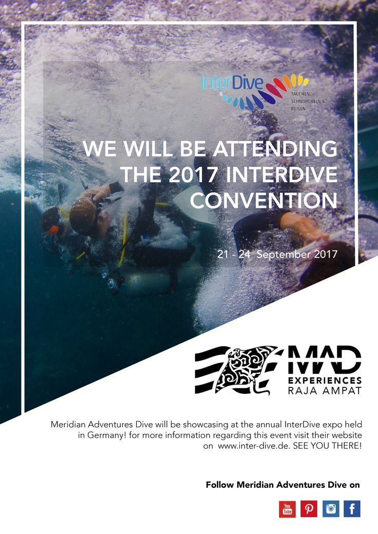 he countdown to the 2017 InterDive Convention has begun! See you there ! ☝ . . . #meridianadventuresdive #rajaampat #island #islandlife #lifestyle #photooftheday #expo #picoftheday #instafun #summer #travel #beautiful #nature #countdown #natgeo #fun #lovetheocean #marine #MAdive #adventure #ocean #vsco #diving #scubadiving #scuba #MAscubadive #germany #marinelife #interdive