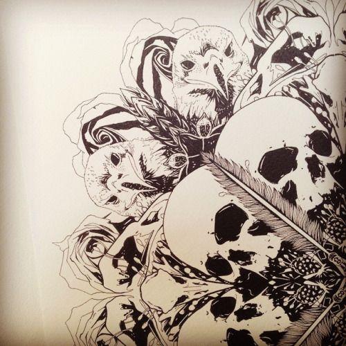 skull mandala tattoo - Google Search