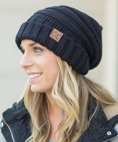 This Black Slouch Beanie is perfect! #zulilyfinds
