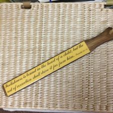 Vintage Spanking paddle With Bible Verse Proverbs 22:15