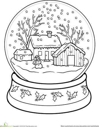 snow globe coloring page snow globes globes and coloring pages. Black Bedroom Furniture Sets. Home Design Ideas