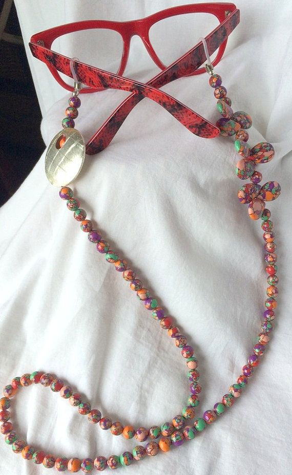 Colourfull Eyeglasses / Sunglasses Beaded Chain by GaylesDesigns01
