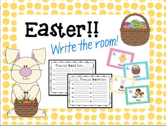 Easter Write the Room FREEBIE!!!