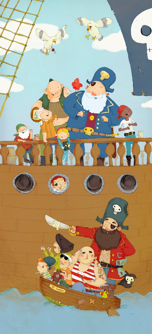 Pirates by James Davies, via Behance