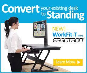 Workfit T Stand Up Desktop Workstation Standing Desksstand Upoffice Ideascalories Burnedcalculatorhealth