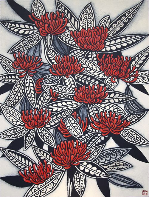 'Tree Waratah': artwork by Julie Hickson, pod and pod gallery (Sydney, NSW, Australia)