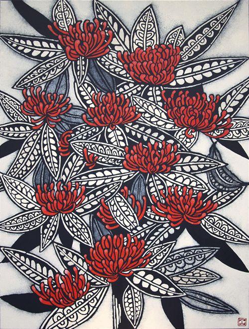 'Tree Waratah': artwork by Julie Hickson, pod and pod gallery (Sydney, NSW, Australia)