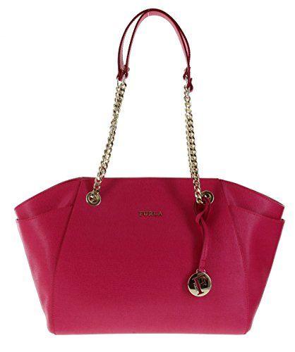 Furla Julia Saffiano Leather Handbag Shoulder Bag Purse in Gloss