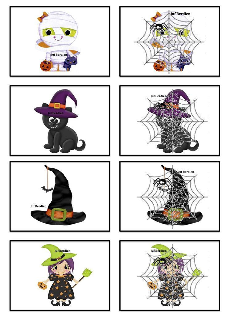 Verstop memory 1 Juf Berdien thema Halloween Griezelen  volledige spel Facebookgroep: 'Juf Berdien'