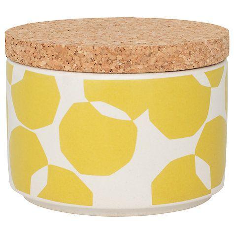 Buy John Lewis Scandi Spot Kitchen Storage Jar, 200ml, Yellow Online at johnlewis.com