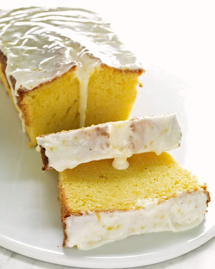 A crack or crevice along the top of a pound cake is a good thing -- especially when it's filled with a sweet lemony glaze.