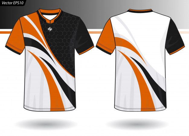 Download Sports Jersey Template For Team Uniforms Premium Vector Freepik Vector Background Abstract Background M Sports Tshirt Designs Team Uniforms Shirt Sketch