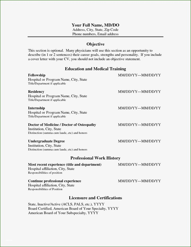 Admirable physician cv template word youll want to copy