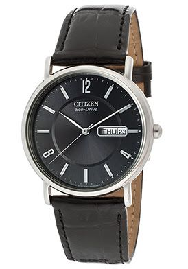#SAVE 43% Off Citizen Men's Black Genuine Leather Watch WAS:$175 NOW$99.99 http://goo.gl/NJI796