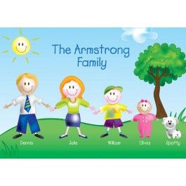 Personalised Family of Characters Placemat | Buy Online with Identity Direct Australia