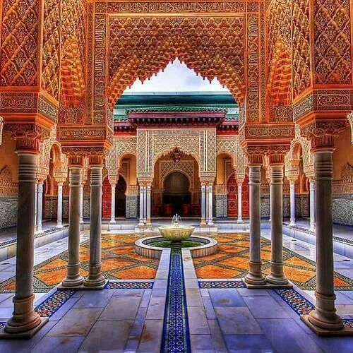 Beautiful Moroccan Courtyard