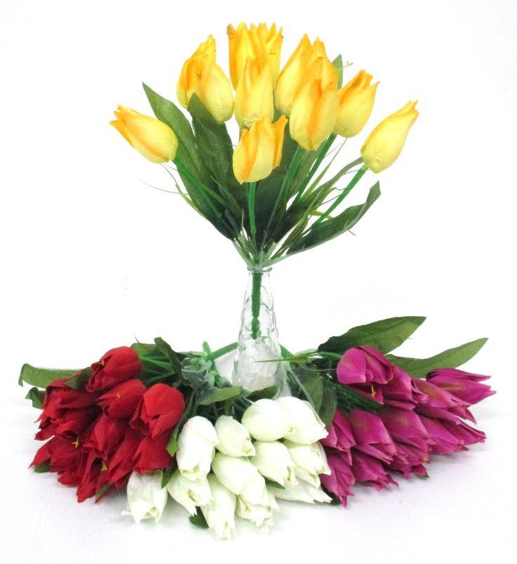 Selyem tulipán csokor