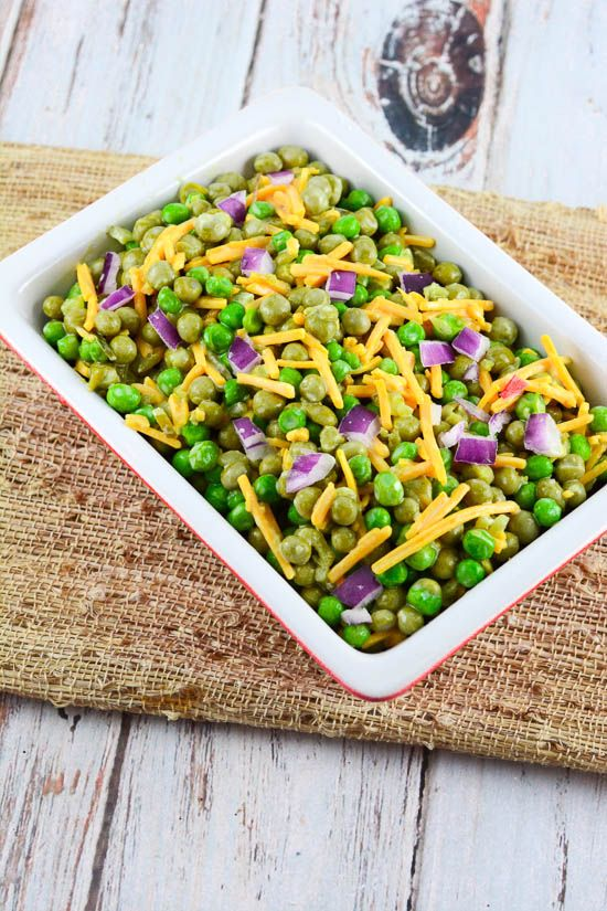 Grandma Lois' Spring Pea Salad is an easy, make ahead side dish that is tradition, and is included in all of our holiday dinners.