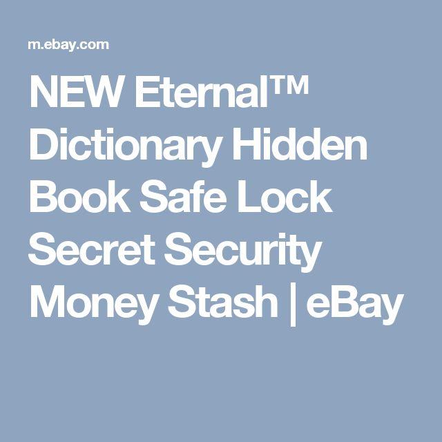 NEW Eternal™ Dictionary Hidden Book Safe Lock Secret Security Money Stash  | eBay
