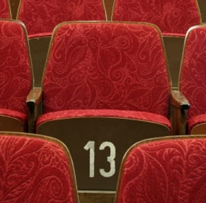 red theater seats, lucky 13