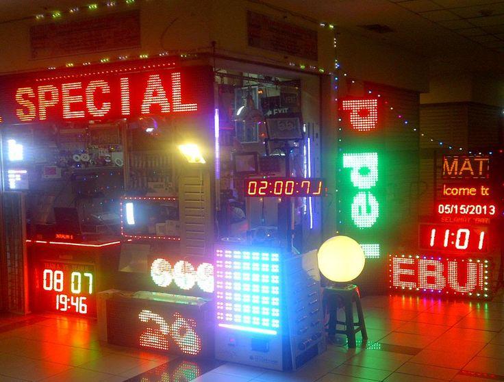 Running Text LED Display Indoor Outdoor Single Colour 3 Colour Full Colour RGB Termurah Terlengkap Moving Sign Tulisan Berjalan Moving LED Reklame