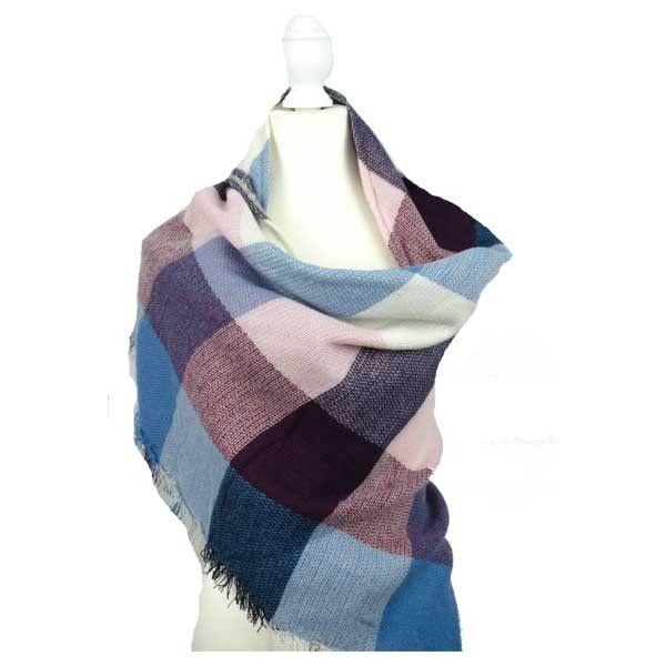 The Skye Wrap Stay stylish and warm this winter. This fantastic large scarf/pashmina is ideal to wrap yourself up in and look effortlessly on trend this season.      Triangular shape scarf (190cm x 140cm x 140cm)     Super soft