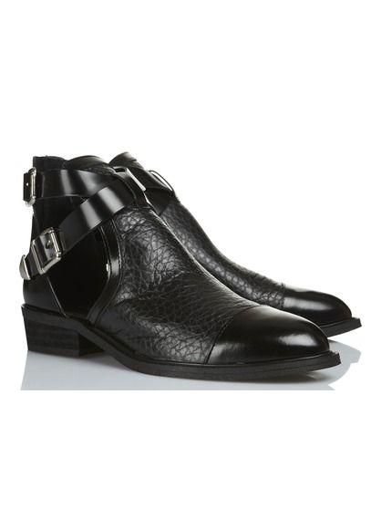 Boots en cuir Noir by JONAK