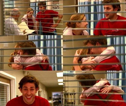 """When Jim found out that Pam was pregnant, and his face did this. 