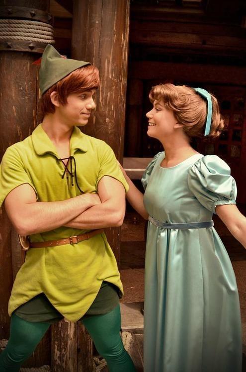 Real-life Peter Pan & Wendy - Disneyland Paris