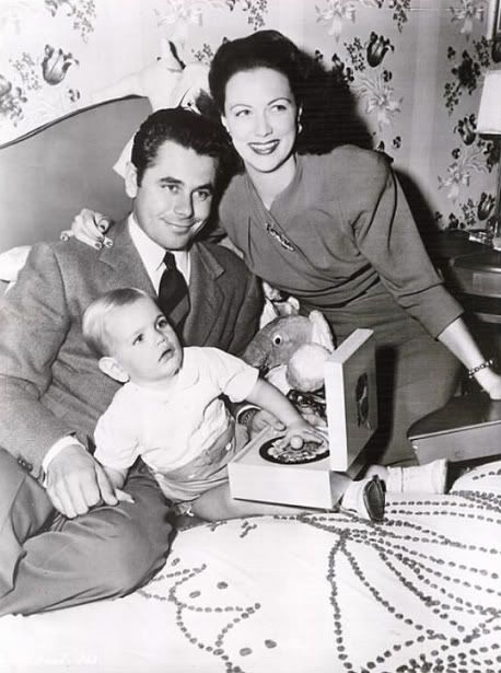 Glenn Ford with wife and dancer/actress Eleanor Powell and their son, Peter. photo by Joseph Goodheart.