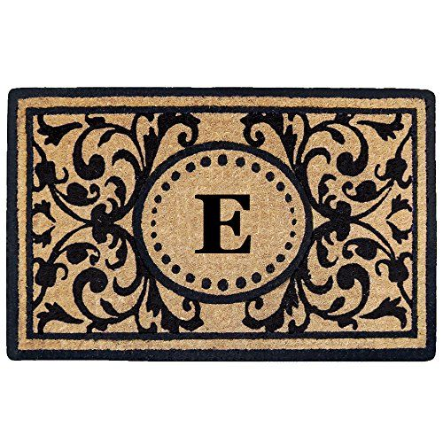 Creative Accents Heavy Duty Heritage Coco Mat Monogrammed E 22 x 36 * Check out this great product.