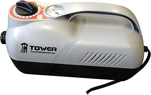 Best Seller Tower Premium iSUP 12V Pump – 20 PSI – Compact Digital Air Pump Compressor Preset PSI Auto Shut Off Inflating SUP Paddle Boards, Boats, Rafts, Pool Toys, Water Sports 12V DC Car Connection online