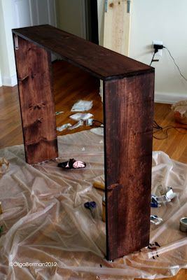 Easy sofa table tutorial i have extra laminate that i may for Sofa table tutorial