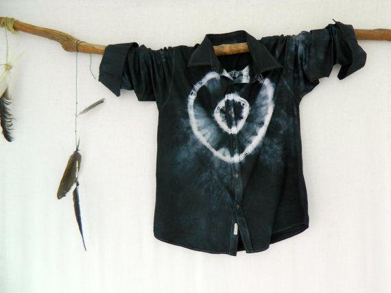 WAYFARER . men's tie dye shirt . XL X Large. by bohemianbabes